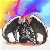 Pop Art - Angel Warrior Art Print