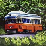 Orange Trolley Art Print