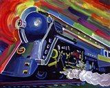 Pop Art Blue Train Art Print