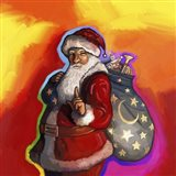 Pop Art Santa Art Print