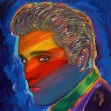 Elvis Rainbow Art Print