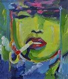 Madonna Smoking Art Print