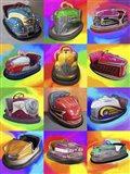 Pop Art Bumper Cars Art Print