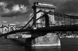 Budapest Chain Bridge BW Art Print