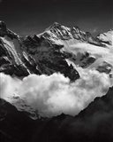 Mountains BW Art Print