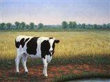 Happy Holstein Art Print