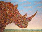 Rhino-Shape Art Print
