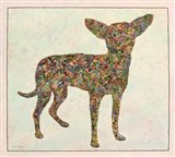 Chihuahua Shape Art Print