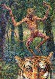Crazy Monkey Art Print