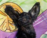 Happy Wienerdog Art Print