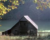 #54 P Cades Cove Barn Art Print