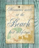 Beach Notes I Art Print