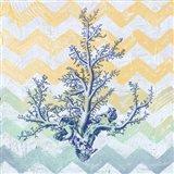 Chevron Coral Art Print