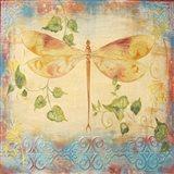 Aqua Dreams Dragonfly Art Print