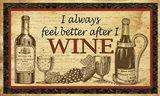 Better After Wine Art Print