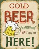 Cold Beer Sign Art Print