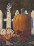 Autumn Bluebird Art Print