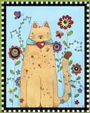 Kitty in the Garden Art Print