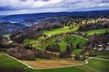 Aerial View of the Hills Near Zurich Art Print