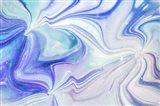 Fluid Acrylic Blue Turquoise Art Print