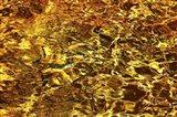 Golden Water Abstract Art Print