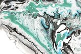 Fluid Acrylic On Emerald Waves Art Print