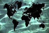 Pure Ocean World Map 1 Art Print