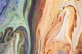 Fluid Acrylic  Heating Waves 1 Art Print