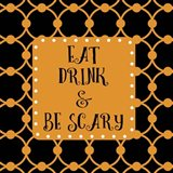 Eat Drink & Be Scary Outlines Art Print