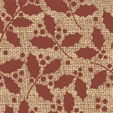 Red Holly Branches Burlap Art Print