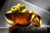 Apple In A Gold Bowl Art Print