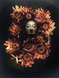 Budda Head In A Bed Of Daisies Art Print