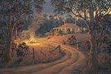 Bush Bonfire Art Print