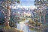 Autumn Snow - Murray Valley Art Print