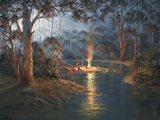Megalong Creek Moonrise Art Print