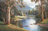 Megalong Valley Campers Art Print