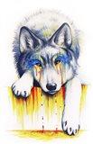 Drowning in Tears Art Print