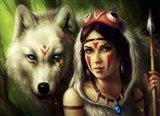 Warrior Princess Art Print