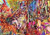 Awe Rides A Burning Steed Art Print
