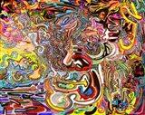 Man As A Garden At Sunrise Art Print