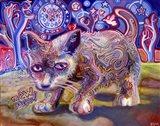 Midnight Mews Art Print