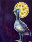 The Goose Who Dreamt of Sunflowers Art Print