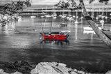 Red Boat Monterey Art Print