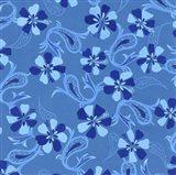 Blue Paisley Art Print