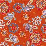 Orange Paisley Art Print