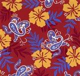 Red Paisley Art Print