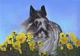 Flower Power Bunny Art Print