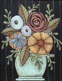 Prim Floral Art Print