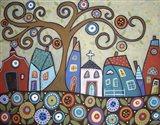 Folk Village Art Print