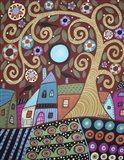 Folksy Village Art Print